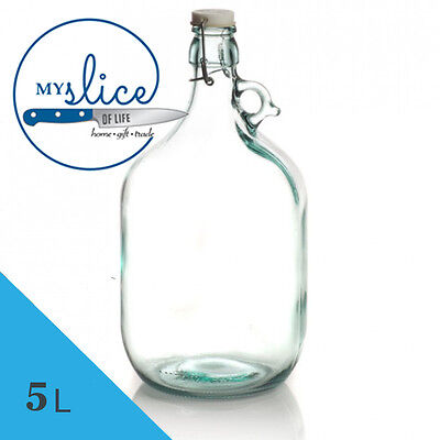 5L Glass Demijohn With Swing Top Lid - Spirits / liqueur / Still Spirits