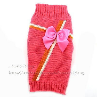 Cute Dog Pet Puppy Cat Jumper Knit Sweater Clothes Knitwear Coat Costume Apparel