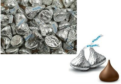 150 Pieces x HERSHEYS KISSES MILK CHOCOLATE 465g INDIVIDUALLY WRAPPED TREATS