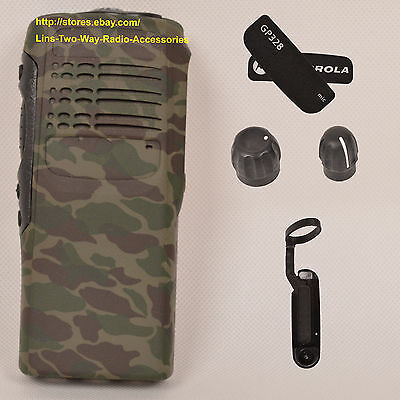Camouflage replacement housing case for Motorola GP328(Ribbon Cable+Speaker+mic)