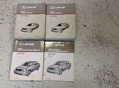 2001 LEXUS LS430 LS 430 Service Shop Workshop Repair Manual Set W EWD & BODY