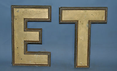 Drive In Movie Theatre Theater Sign Letters ET Gold Aluminum Vintage