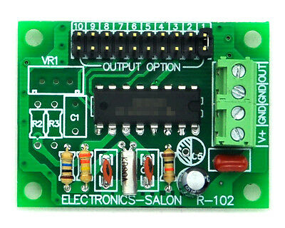 Low Frequency Square Wave Oscillator Module, 2 4 8 32 64 128 256 512 1024 2048Hz
