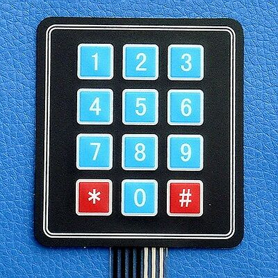 12-Key Membrane Switch Keypad, Keyboard, For MCU Proj.