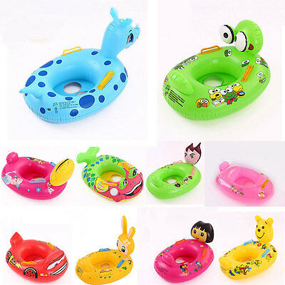 Baby Swimming Seat Ring Inflatable Aid Trainer Various Cartoon Designs