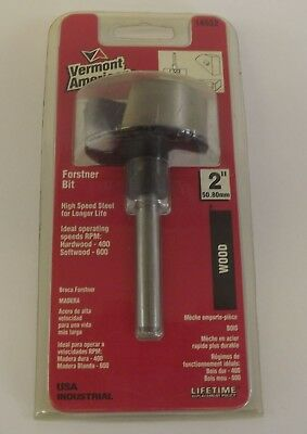 "New Vermont American 2"" Wood Forstner Bit Drill Bit High Speed Steel 14532"
