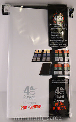 Ultra Pro 4UP Playset Pro Binder Holds 480 cards White Brand New