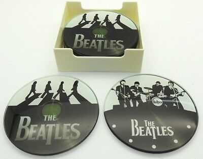 French Country Coasters Retro Inspired Kitchen Decorative THE BEATLES SET 6 New