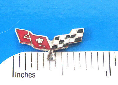 CORVETTE FLAGS  - Hat pin , lapel pin , tie tac . hatpin GIFT BOXED hard enamel