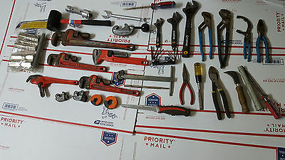 Plumbing tools, Ridgid Pipe wrenches, Ridgid pipe cutters, Raptor wrenches++++