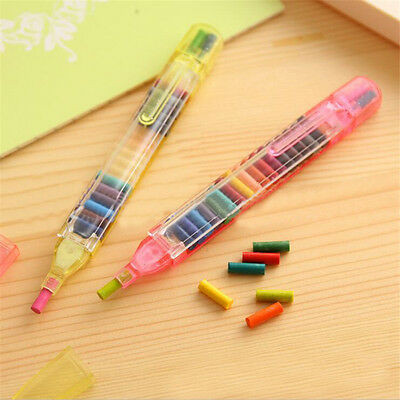 1 Pc 20 Colors Replaced Crayon Colorful Kids Painting Drawing Gift(Random Color)