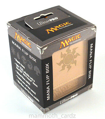 Ultra Pro Magic The Gathering Mana Flip Box White Brand New