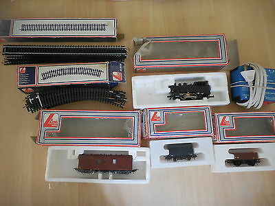 Lima Italy Train Set Engine + 3 Carriages + Track + Power Master Junior