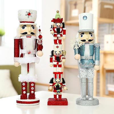 Sparkling Walnut Soldiers Christmas Wooden Nutcracker Soldier Christmas Ornament