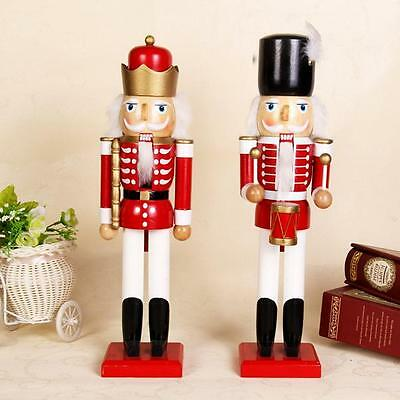 Christmas Nutcracker Soldiers Wooden Walnut Soldiers Xmas Decoration Ornament