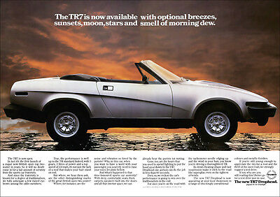 Triumph Tr7 Dhc Convertible Retro A3 Poster Print From Classic 70's Advert