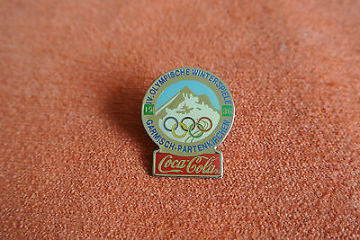 18720 Pin's Pins Jo Olympic Worldgames Coca Cola 1936 Garmisch