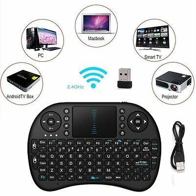 i8 2.4G Wireless Mini Keyboard With Touchpad Mouse For Smart TV Android PC AU2