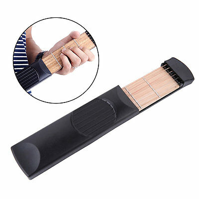 Musical Instrument Portable Pockets Acoustic Guitar Practice Tool For BeginnerLO