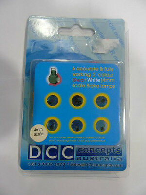 DCP003 DCC Concepts BR Loco Red & White 4mm Scale Brake Lamps with Resistors