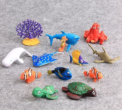 13X Cartoon Finding Nemo Dory PVC Action Figures Toy Doll Cake Toppers Kids Gift