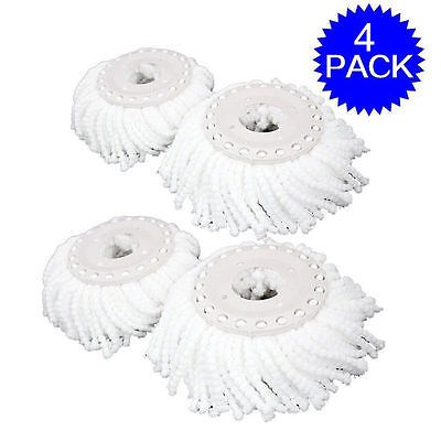 4 x Replacement Mop Micro Head Refill Hurricane For 360° Spin Magic Mop New