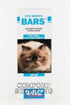 """""""Bars"""" Eye drops for cats dogs &rabbits prevention and treatment of eye diseases"""