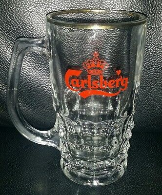 Rare Collectable Carlsberg Beer Glass Mug In Good Used Condition