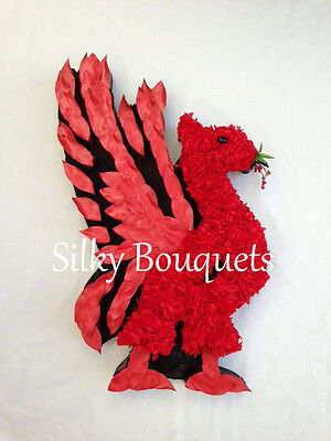 Liverbird Liverpool Artificial Silk Funeral Flower Tribute Memorial Wreath LFC