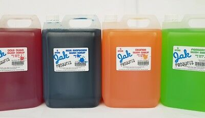 2 x 5 LITRE BOTTLES OF SLUSH SYRUPS SNOW CONE SYRUPS PICK YOUR OWN FLAVOURS