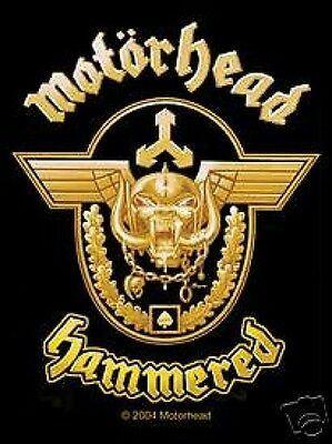MOTORHEAD hammered 2010 WOVEN SEW ON PATCH official - no longer made LEMMY