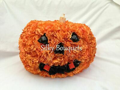 Pumpkin Halloween Artificial Silk Funeral Flower Tribute Memorial 3D Daughter