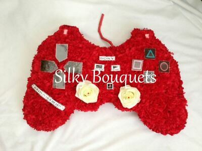 Gamepad Artificial Silk Funeral Flower Tribute Xbox Playstation Gamer Wreath