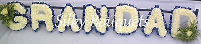 Grandad Artificial Silk Tribute Funeral Flower Any 7 Letter Brother Memorial Dad
