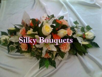 Artificial Silk Flower Coffin Spray Top Table Decoration Wedding Funeral Decor