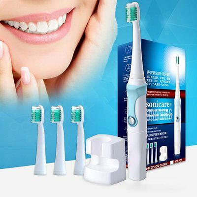 3 Head Wellness Oral Care Power Rechargeable Sonic Electric Toothbrush Charger