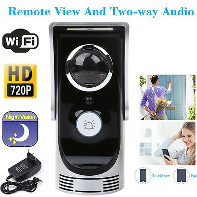 Wireless WiFi HD 720P Home Security Visual Night Vision Camera Phone Doorbell