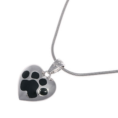Elegant Sterling Silver Heart Pendant for Pets Ashes