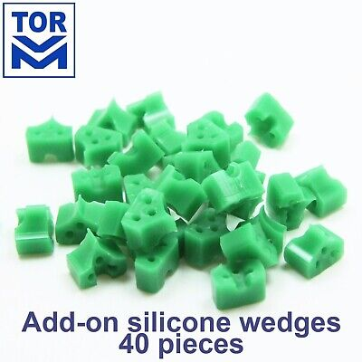 40pcs Orthodontic Dental Add-On Wedges Silicone Rubber For Matrices Instalation
