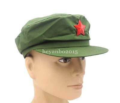 Chinese PLA Army Type 65 Military Cap Hat With Red Star Badge Size L