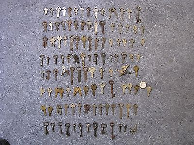 Antique Vintage Lot of Over 120 Keys for Furniture Steampunk ,Padlock Doors Etc.