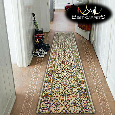 Thick Hall Runner TRADITIONAL STANDARD TAMIR CREAM Width 70 cm extra long RUGS