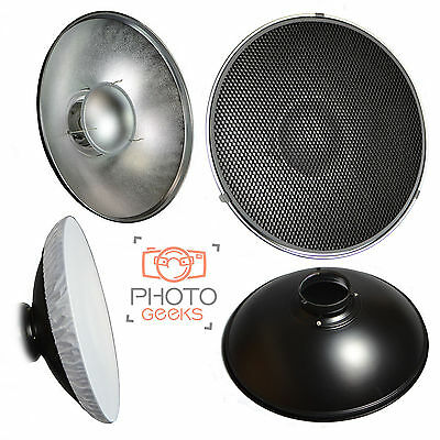 XL Beauty Dish 70cm Honeycomb Grid & Diffuser - Bowens S Type Fitting- Silver