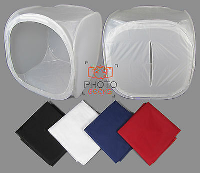 "XL 150cm / 59"" Photography Light Tent + 4 Backdrops - Box Cube Photo Studio"