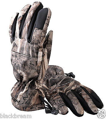 Pro Logic Max 5 Thermo Armour Gloves Camouflage Camo Fishing Shooting Hunting A1