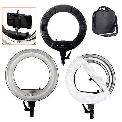 "Continuous Ring Light 18"" & Diffuser - 48w - 5600k Daylight Portrait Catch Light"