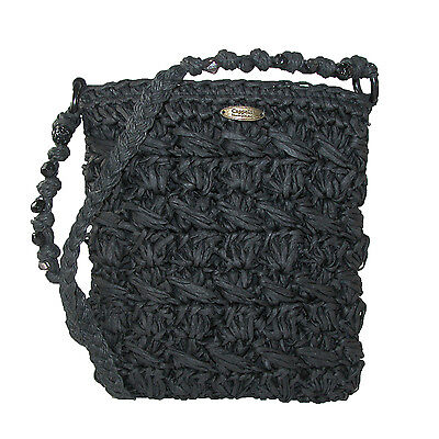 New Cappelli Women's Crocheted Crossbody Handbag with Beaded Strap