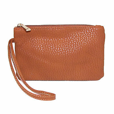 New CTM Women's Zip Top Clutch Wristlet Handbag
