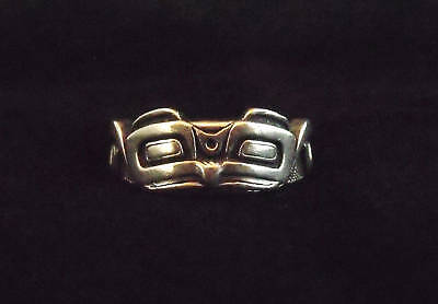 Northwest Coast Sterling Silver Eagle Face Ring
