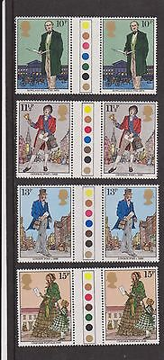 Gb Mnh Gutter Pair Stamp Set 1979 Rowland Hill Sg 1095-1098 Umm